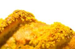 Pan francés con maíz en el fondo blanco Foto de archivo libre de regalías