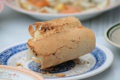 Pan francés mordido del baguette Foto de archivo libre de regalías