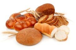 Pan fresco con maíz del trigo Imagen de archivo libre de regalías