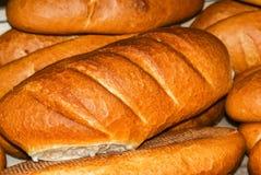 Pan fresco con una corteza de oro Imagenes de archivo