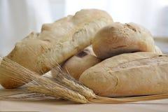 Pan fresco de Homemede con los oídos del trigo Fotos de archivo