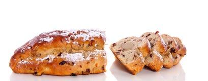 Pan fresco de la pasa de las rebanadas Fotografía de archivo