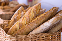 Pan fresco de los baguettes Fotos de archivo libres de regalías