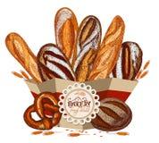 Pan fresco en el paquete Foto de archivo
