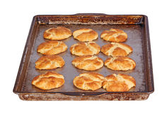 Pan of freshly baked snickerdoodles Stock Photo