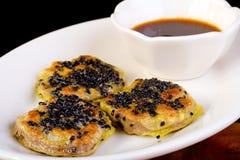 Pan Fried Beef Dumpling Dim Sum Stock Image
