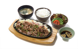 Pan-Fried Beef With Soya Sauce Set Stock Image
