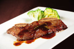 Pan-Fried Beef Steak with Black Pepper Royalty Free Stock Image