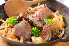 Liver and onions Royalty Free Stock Photos