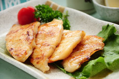 Pan fried cod fillets Royalty Free Stock Photo
