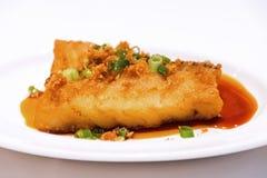 Pan Fried Cod Fish Stock Photo