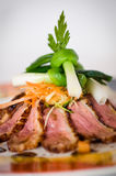Pan fried duck breast royalty free stock photos