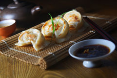 Pan fried dumpling royalty free stock photos