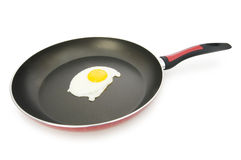 Pan and fried egg isolated Royalty Free Stock Image