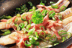 Pan fried fish fillets Stock Photo