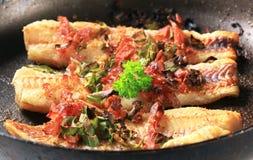 Pan fried fish fillets Royalty Free Stock Photos