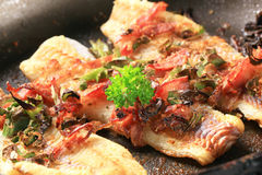 Pan fried fish fillets Stock Images