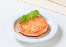 Pan-fried fish patty Royalty Free Stock Image
