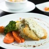 Pan fried fish western food Stock Image