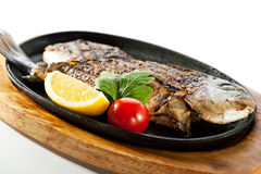Pan-Fried Gilt Head Bream Royalty Free Stock Photography