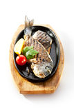 Pan-Fried Gilt Head Bream Stock Image