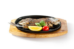 Pan-Fried Gilt Head Bream Royalty Free Stock Photo