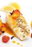 Pan fried halibut Royalty Free Stock Image