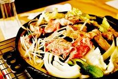 Pan-Fried Lamb Chops de style asiatique photographie stock libre de droits