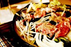 Pan-Fried Lamb Chops de style asiatique photographie stock