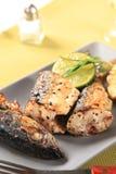 Pan fried mackerel Royalty Free Stock Photo