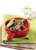 Pan fried mackerel Stock Photo