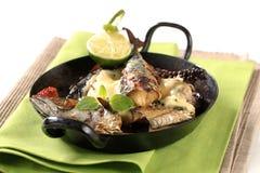 Pan fried mackerel Stock Photography