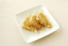 Pan fried mixed shreds pork pancakes. Chinese cuisine. yumcha, chinese food Royalty Free Stock Photo