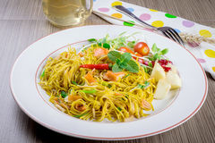 Pan fried noodle royalty free stock photos