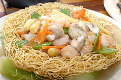 Pan fried noodles Royalty Free Stock Images