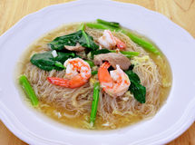 Pan fried noodles Stock Image