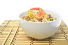Pan fried noodles. Stock Photos