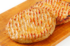 Pan fried patties Royalty Free Stock Photography