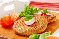 Pan fried patties Stock Photo
