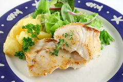 Pan Fried Perch 1 Royalty Free Stock Images