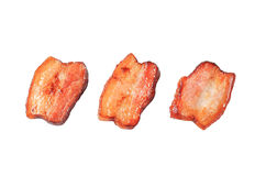 Pan fried pieces of salt pork Stock Photography