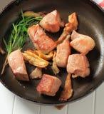 Pan fried pork Royalty Free Stock Image