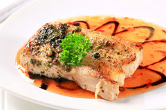 Pan fried pork belly Stock Photos