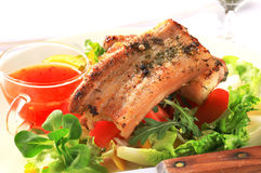 Pan fried pork belly Royalty Free Stock Photography