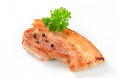 Pan fried pork belly Stock Photography