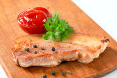 Pan fried pork belly Royalty Free Stock Photos