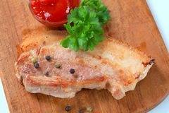 Pan fried pork belly Royalty Free Stock Image