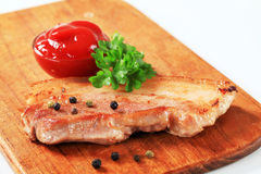 Pan fried pork belly Royalty Free Stock Photo
