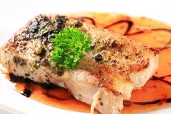 Pan fried pork belly Stock Photo