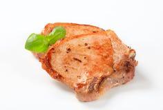 Pan-fried pork chop Royalty Free Stock Image